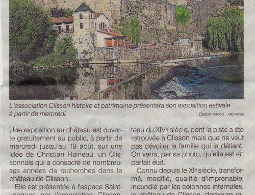 Une exposition sur le château de Clisson